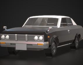3D model Low-Poly Retro City Car 02
