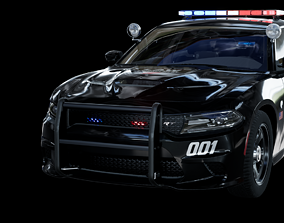 3D model UE4 2016 Dodge Charger Pursuit Hellcat with 1