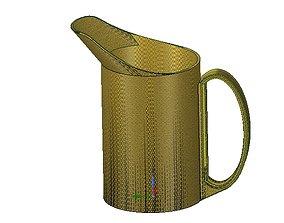 professional cup pot jug vessel v02 for 3d print and cnc