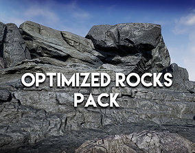 low-poly Optimized Rocks asset pack for UE4