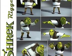 3D model Shrek rigged 1 0
