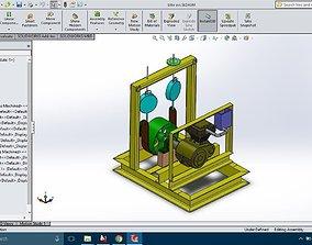 3D model Engine-Test-Rig-Dynamometer