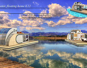 house on water 3D model