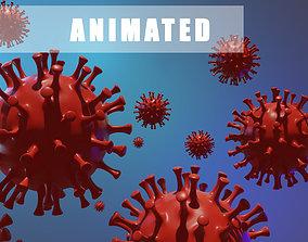 Corona virus animated 3D asset