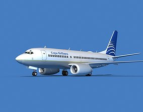 Boeing 737 MAX 7 Copa Airlines 3D model