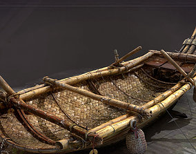 old PBR Real time era game fishing boat model