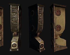 Sci Fi Wall Pillar 3D model
