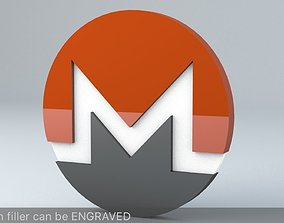 Monero Crypto Currency 3D Logo cryptocurrency