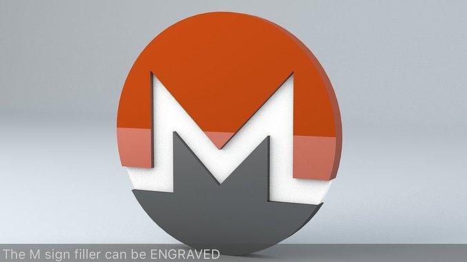 monero-crypto-currency-3d-logo-3d-model-