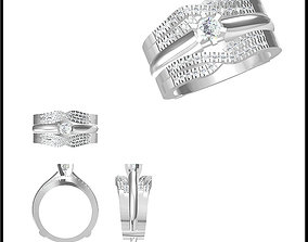 Wedding band rings for women autocad 3D print model