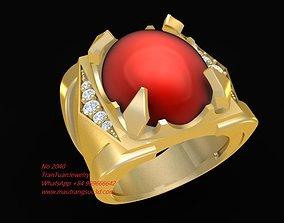 3D printable model 2040 Ruby Ring Men