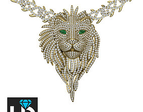 3D print model Iced out The Lion King Head