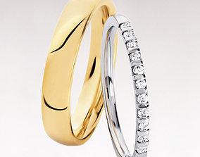3D printable model Wedding rings 207