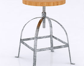 3D Artisan Stool Wood Seat