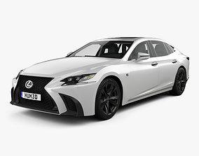 Lexus LS XF50 F Sport with HQ interior 2018 3D model