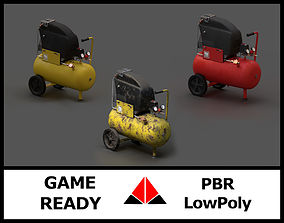 Air compressor pack 3D
