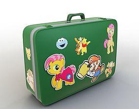Cartoon Suitcase 3D model