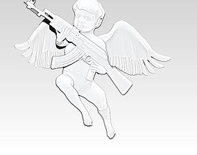 3D printable model Cupid AK 47