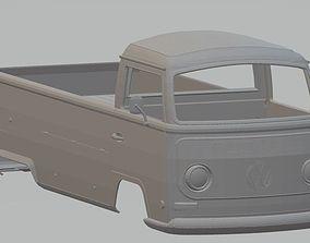 Volkswagen T2 Pickup Printable Body Van