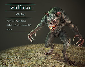 wolfman vrchat 3D model animated