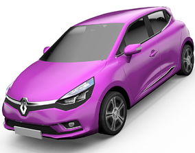 animated VR / AR ready Renault Clio Hatchback 3D Model