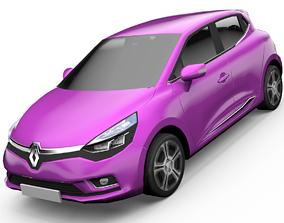 Renault Clio Hatchback 3D Model animated realtime