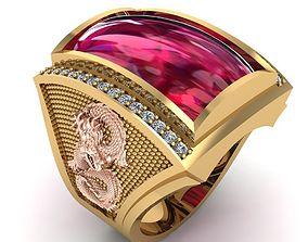 3D print model 482 Lucky Dragon Ring