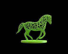 3D print model Horse Voronoi wireframe