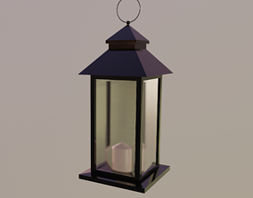 Outdoor Lantern LOW POLY 3D asset