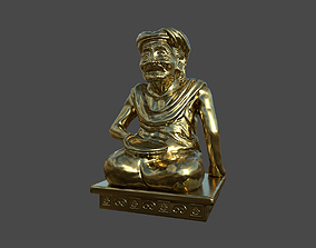 Ancient Sculpture 3D asset game-ready