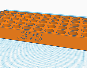 3D print model 375 Reloading Tray with handles