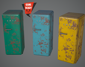 REFRIGERATOR OLD Game Ready 3D asset