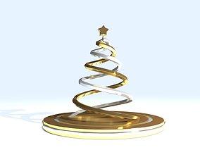 Christmas Tree 3D print model platinum