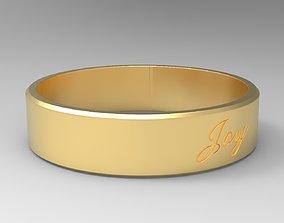 Joy Ring Gold 24k Brushed Material 3D printable model