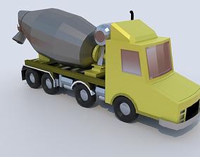3D asset Cement Truck