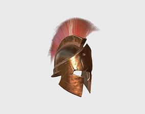 3D model Spartan helmet Low-Poly PBR