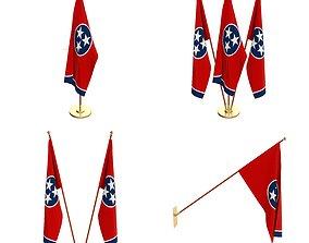 3D model Tennessee Flag Pack