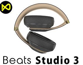 Apple Beats Studio3 Wireless OverEar Headphones Shadow 3D