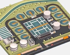 3D asset Isometric Water Treatment Plant Large Platform