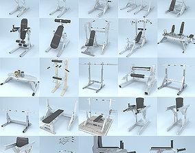 trainers Gym Equipment Kit 3D model