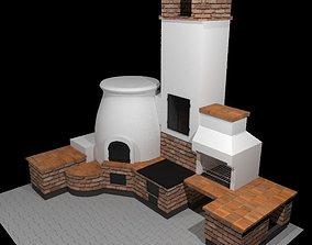 3D model Outdoor oven complex