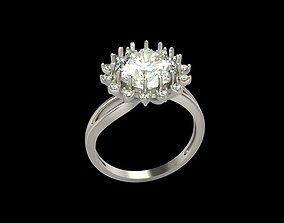 Women ring with gems 3dm stl