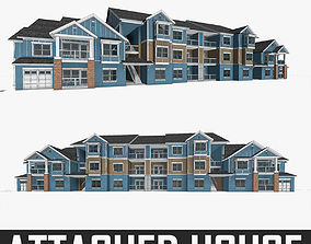 3D model Attached House