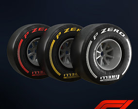 3D model Formula 1 Wheel - 3 different softness -