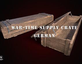 German War-Time Wooden Supply Crate 3D asset
