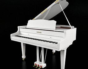 3D model Piano string