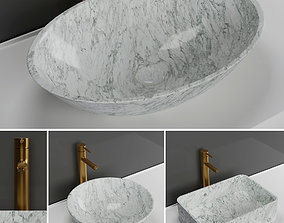 3D Carrara basins Lusso stone