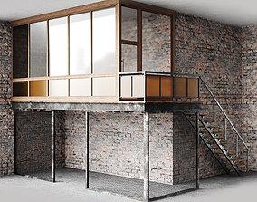 Loft room 3D model