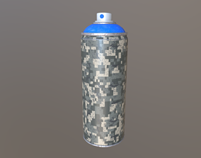 3D model VR / AR ready Spray Paint Can