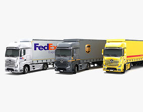 Mercedes Benz Actros DHL UPS FedEx 3D model
